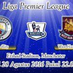 Prediksi Skor Manchester City Vs West Ham United 28 Agustus 2016