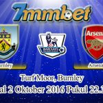 Prediksi Skor Burnley Vs Arsenal 2 Oktober 2016