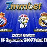 Prediksi Skor Espanyol Vs Real Madrid 19 September 2016