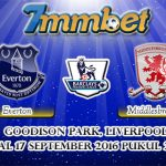 Prediksi Skor Everton Vs Middlesbrough 17 September 2016