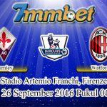 Prediksi Skor Fiorentina Vs AC Milan 26 September 2016