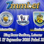 Prediksi Skor Leicester City Vs Burnley 17 September 2016