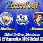Prediksi Skor Manchester City Vs Bournemouth 17 September 2016