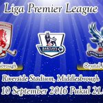 Prediksi Skor Middlesbrough Vs Crystal Palace 10 September 2016