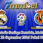 Prediksi Skor Real Madrid Vs Villarreal 22 September 2016