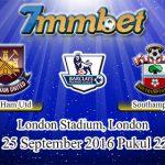 Prediksi Skor West Ham United Vs Southampton 25 September 2016