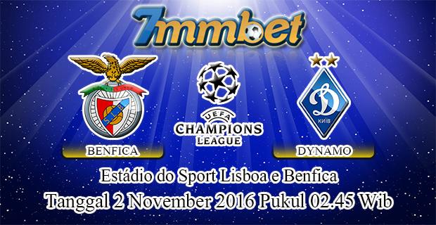 Prediksi Skor Benfica Vs Dynamo Kyiv 2 November 2016