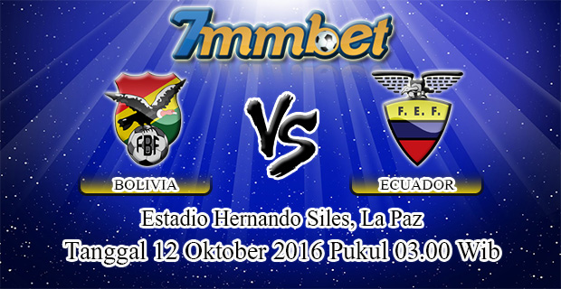 Prediksi Skor Bolivia Vs Ekuador 12 Oktober 2016