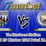 Prediksi Skor West Bromwich Albion Vs Manchester City 29 Oktober 2016