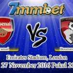 Prediksi Skor Arsenal Vs Bournemouth 27 November 2016