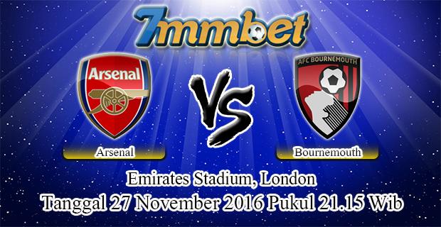 Prediksi Skor Arsenal Vs Bournemouth 27 November 2016