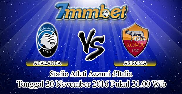 Prediksi Skor Atalanta Vs AS Roma 20 November 2016