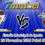 Prediksi Skor Eibar Vs Celta Vigo 20 November 2016