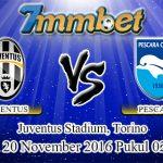 Prediksi Skor Juventus Vs Pescara 20 November 2016