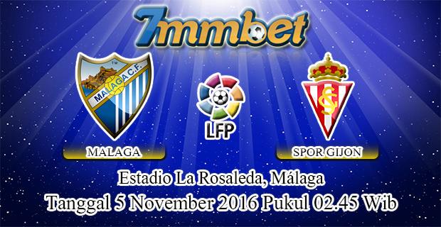 Prediksi Skor Malaga Vs Sporting Gijon 5 November 2016