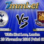 Prediksi Skor Tottenham Hotspur Vs West Ham United 20 November 2016