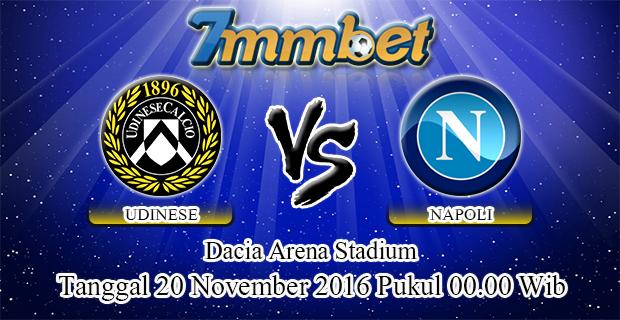 Prediksi Skor Udinese Vs Napoli 20 November 2016