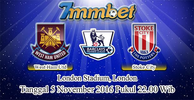 Prediksi Skor West Ham United Vs Stoke City 5 November 2016