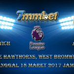 Prediksi Skor West Bromwich Albion Vs Arsenal 18 Maret 2017