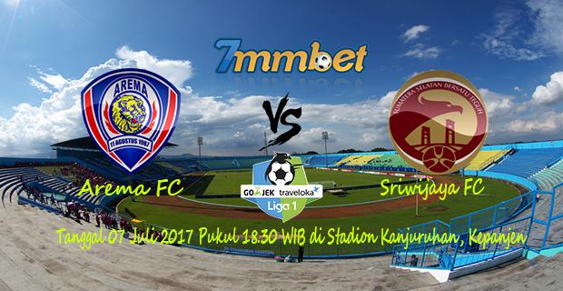 Arema FC Vs Sriwijaya FC 07 Juli 2017