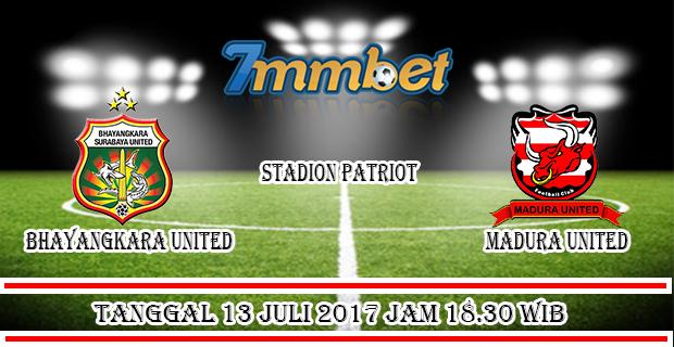 Prediksi Skor Bhayangkara United vs Madura United 13 Juli 2017